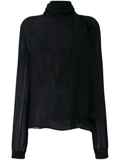 прозрачная блузка с элементом шарфа Saint Laurent