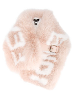 шарф из лисьего меха с логотипом Fendi