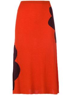 трикотажная юбка в рубчик Marni