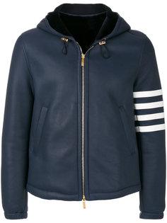 куртка-бомбер с полосатой отделкой Thom Browne