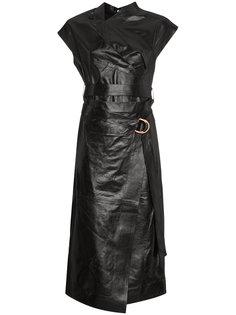 платье длины миди с запахом Proenza Schouler