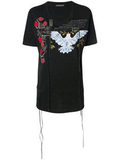 футболка с нашивкой Alexander McQueen