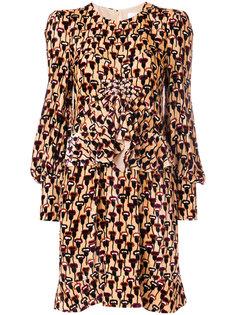 платье с маками Chloé