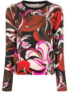свитер с цветочным принтом Emilio Pucci