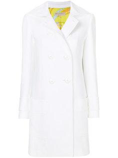 пальто со складкой на спине Emilio Pucci