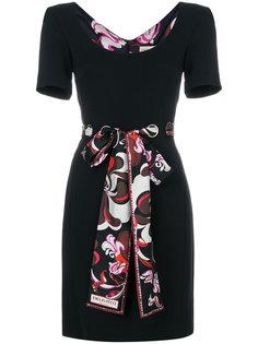 короткое платье с поясом в виде шарфа Emilio Pucci