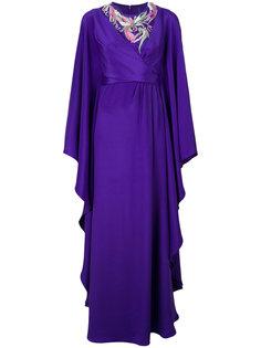 платье с оборками и вышивкой Emilio Pucci