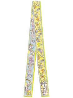 узкий шарф с принтом-логотипом Emilio Pucci
