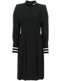 платье с плиссированным воротником Fendi