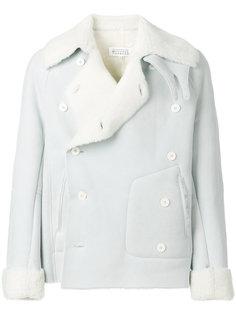 двубортное пальто из овчины Maison Margiela