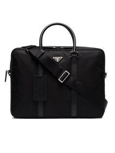 портфель с двумя отделениями на молнии Prada