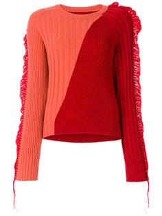 свитер в рубчик с бахромой  Maison Margiela