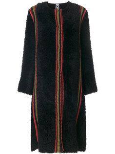 фактурное пальто с полосками  M Missoni