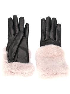 перчатки с меховой отделкой Gala