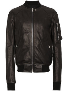 кожаная куртка-бомбер с рукавами-реглан Rick Owens