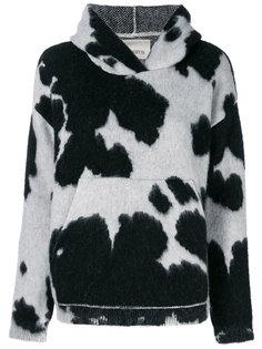 худи с коровьим принтом Laneus