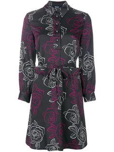 платье-рубашка с принтом роз Armani Jeans