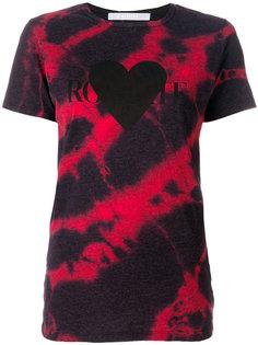 """футболка с эффектом """"варенки"""" и принтом сердца с логотипом Rodarte"""