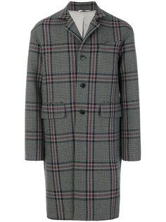 однобортное пальто в ломаную клетку Valentino