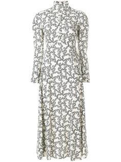 платье миди с графическим принтом  Valentino