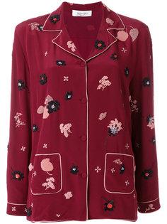 пижамный топ с цветочной отделкой  Valentino