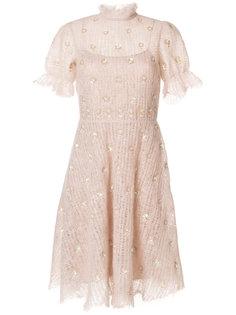 платье с отделкой пайетками  Valentino