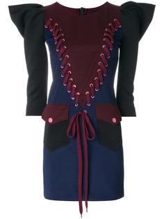 структурированное платье со шнуровкой Frankie Morello
