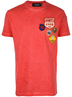 badge embroidered T-shirt Dsquared2