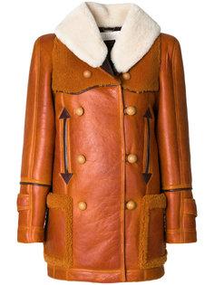 пальто с воротником из цигейки  Chloé
