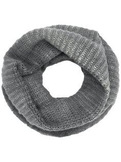 двухцветный шарф-хомут в рубчик Avant Toi