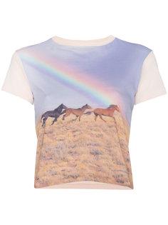 футболка с радужным принтом  Re/Done