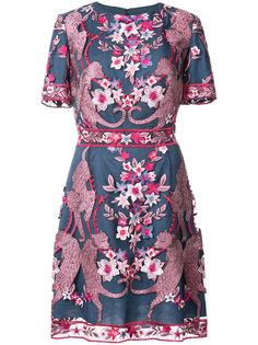 коктейльное платье с цветочным узором Marchesa Notte