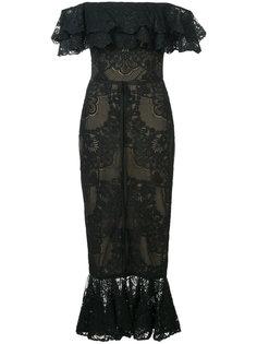 облегающее платье с открытыми плечами Marchesa Notte