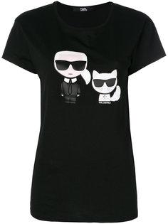 футболка Karl & Choupette Ikonik Karl Lagerfeld