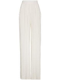 wide leg striped trousers  Lot78