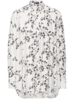 рубашка свободного кроя с вышитыми цветами Ann Demeulemeester