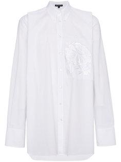 рубашка свободного кроя с вышитым цветком Ann Demeulemeester