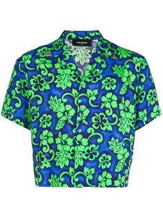 cropped Hawaiian print shirt Dsquared2