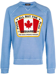 Canadian flag patch sweatshirt Dsquared2
