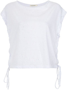 lace up blouse Giuliana Romanno