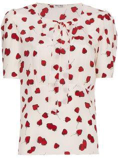 блузка с завязкой на бант Miu Miu