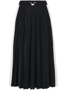 плиссированная юбка-миди с кружевными вставками Valentino