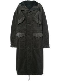 длинное пальто с капюшоном Haider Ackermann