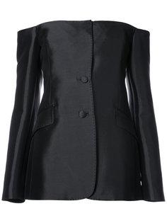 строгая блузка с открытыми плечами  Gabriela Hearst