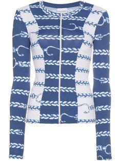 nautical rope print sports style jacket  Belusso