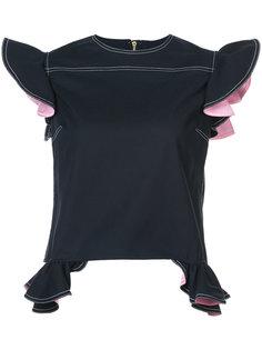блузка с оборками Harvey Faircloth