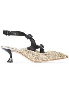 туфли-лодочки с бантами Miu Miu