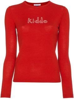 свитер с круглым вырезом и принтом Kiddo Bella Freud