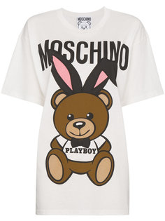 футболка с принтом Playboy Teddy Moschino