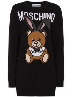 трикотжное платье Playboy Teddy Moschino